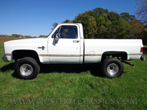 small resolution of 87 chevy k10 87 k10 short bed swb silverado fuel injected white 4 speed